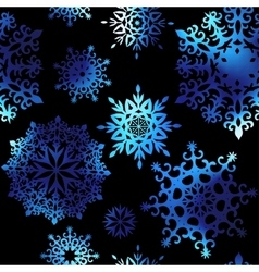 Snowflakes on black background vector