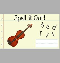spell english word fiddling vector image