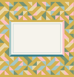 Square frame in retro colors abstract geometric vector