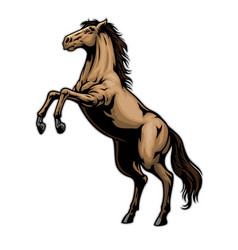 Standing horse in hand drawn style vector