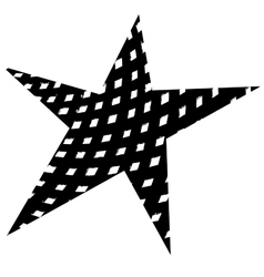 Star Original Grunge vector image