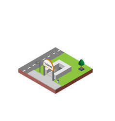 subway entrance in isometric projection necessary vector image