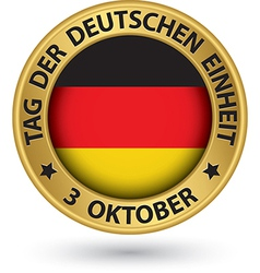 The day german unity gold label with german vector