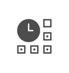 time management and control glyph icon vector image