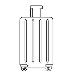 travel wheels bag icon outline style vector image