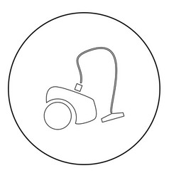 Vacuum cleaner icon black color in circle vector