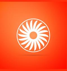 ventilator symbol icon isolated ventilation sign vector image