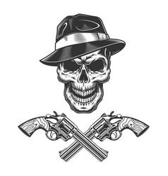 vintage monochrome criminal concept vector image