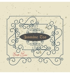 Vintage Victorian Greeting Card Template vector