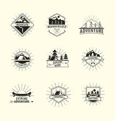 Vintage wanderlust labels vector