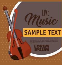 violin instrument musical icon vector image