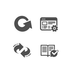 Web settings reload and refresh icons approved vector