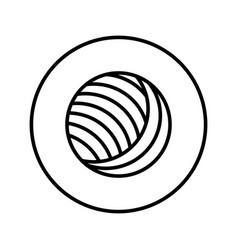 Yarn ball icon editable thin line vector