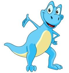 Dinosaur presenting vector