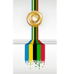 Olympic games gold medal banner vector