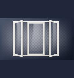 plastic door plastic door frame opened vector image vector image