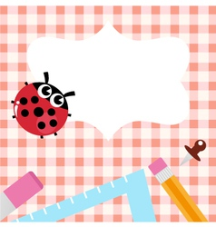 School design with Ladybug vector image vector image
