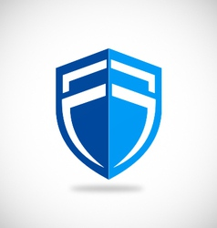 shield blue protection business logo vector image vector image