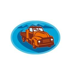 Vintage pick-up cargo farm truck vector image vector image