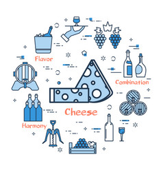 blue round cheese concept vector image vector image