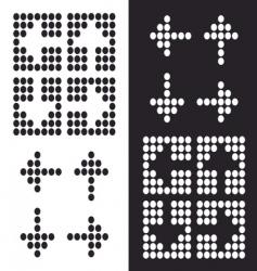 dot arrow icon vector image vector image