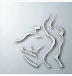 Woman and man torso vector image