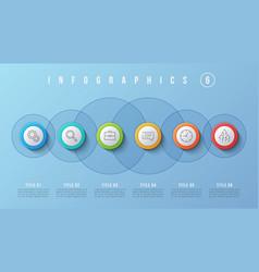 6 options infographic design presentation vector image