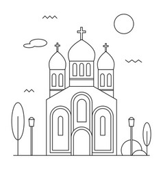 orthodox church icon vector image vector image