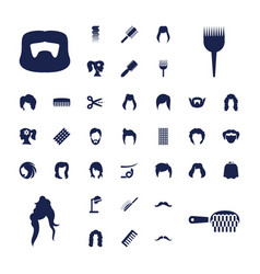 37 hairstyle icons vector