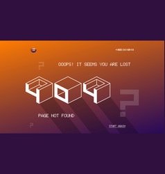 404 page template for website flat design vector image