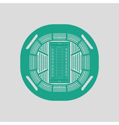 American football stadium birds-eye view icon vector image