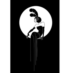 Art Deco Lady fashion design vector