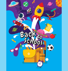 back to school book inspiration online learning vector image