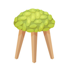 Backless stool on a white vector