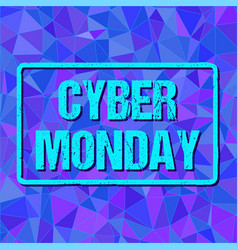 banner with cyber monday sign in frame on vector image