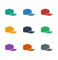 Baseball cap icon white background vector
