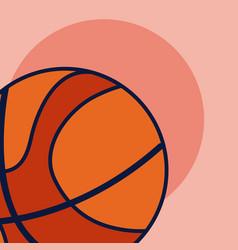 basketball sport ball vector image