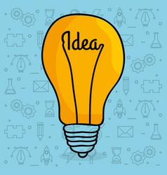 bulb creative ideas concept vector image