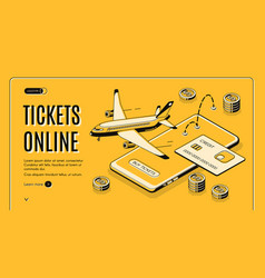 buying tickets online isometric website vector image