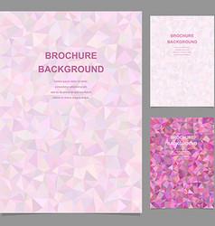 Colorful triangle tile design brochure template vector image