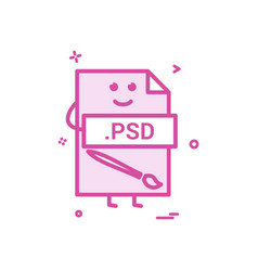 Computer psd file format type icon design vector