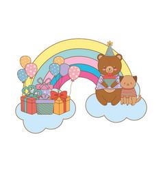 cute adorable animal cartoon vector image