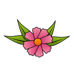 cute flower decorative icon vector image