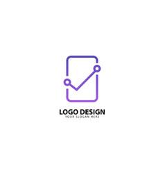 Digital mobile protection logo design vector