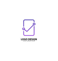 Digital mobile protection logo design with vector