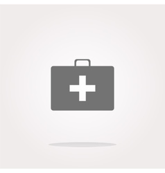 Doctor Bag Health Medical Icon Isolated on vector image