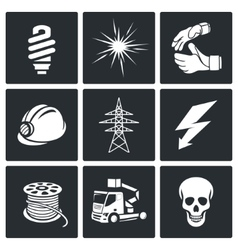 Electrical Company Icons set vector image