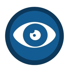 Eye sign isolated icon vector
