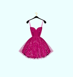 Fancy party dress vector image