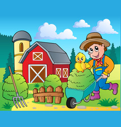 Farm theme image 7 vector